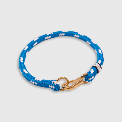Fixed Collar Blue and white collar made by Fair Leads