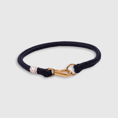 Fixed Collar Navy collar made by Fair Leads