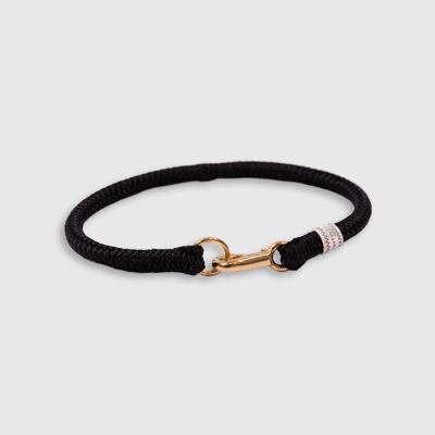 Fixed Collar Solid Black collar made by Fair Leads