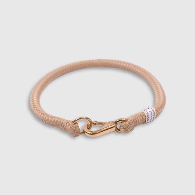 Fixed Collar Tan collar made by Fair Leads